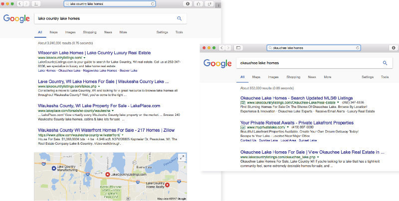 Lake Country Listings Search Engine Marketing